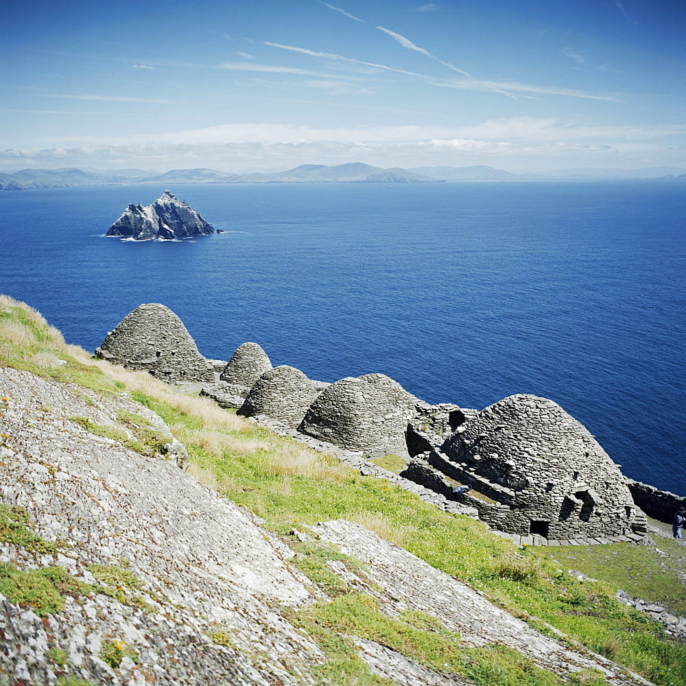 Ancient monastic settlement in Skellig Michael, UNESCO World Heritage Site, County Kerry, Munster, Republic of Ireland (Eire), Europe