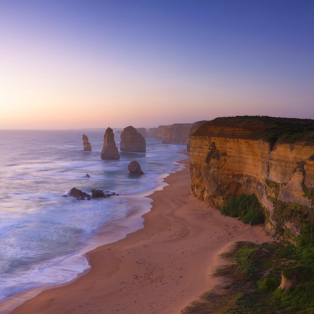 Twelve Apostles at sunset, Port Campbell National Park, Great Ocean Road, Victoria, Australia, Pacific