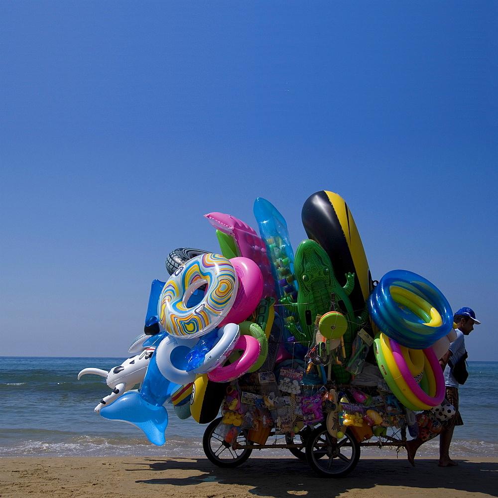 Beach Seller, Sperlonga, Lazio, Italy, Europe