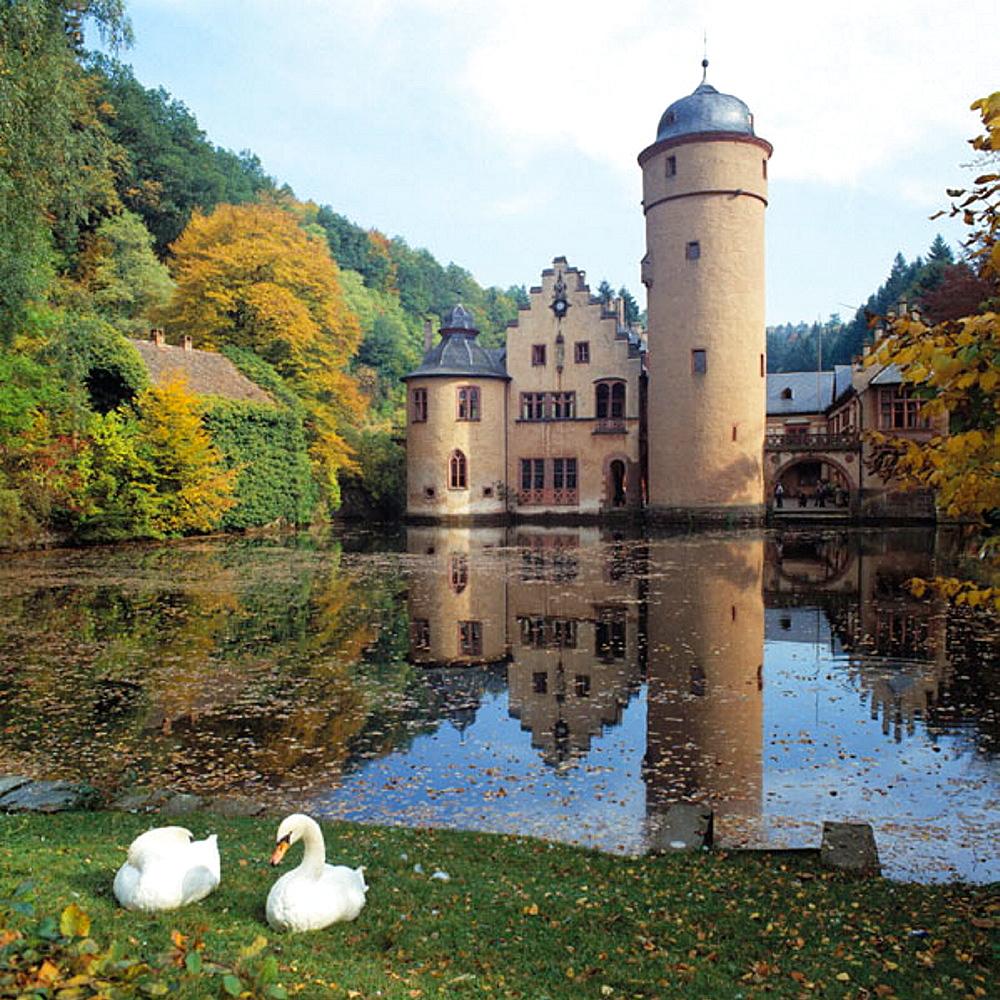 Castle, Mespelbrunn, Bavaria, Germany