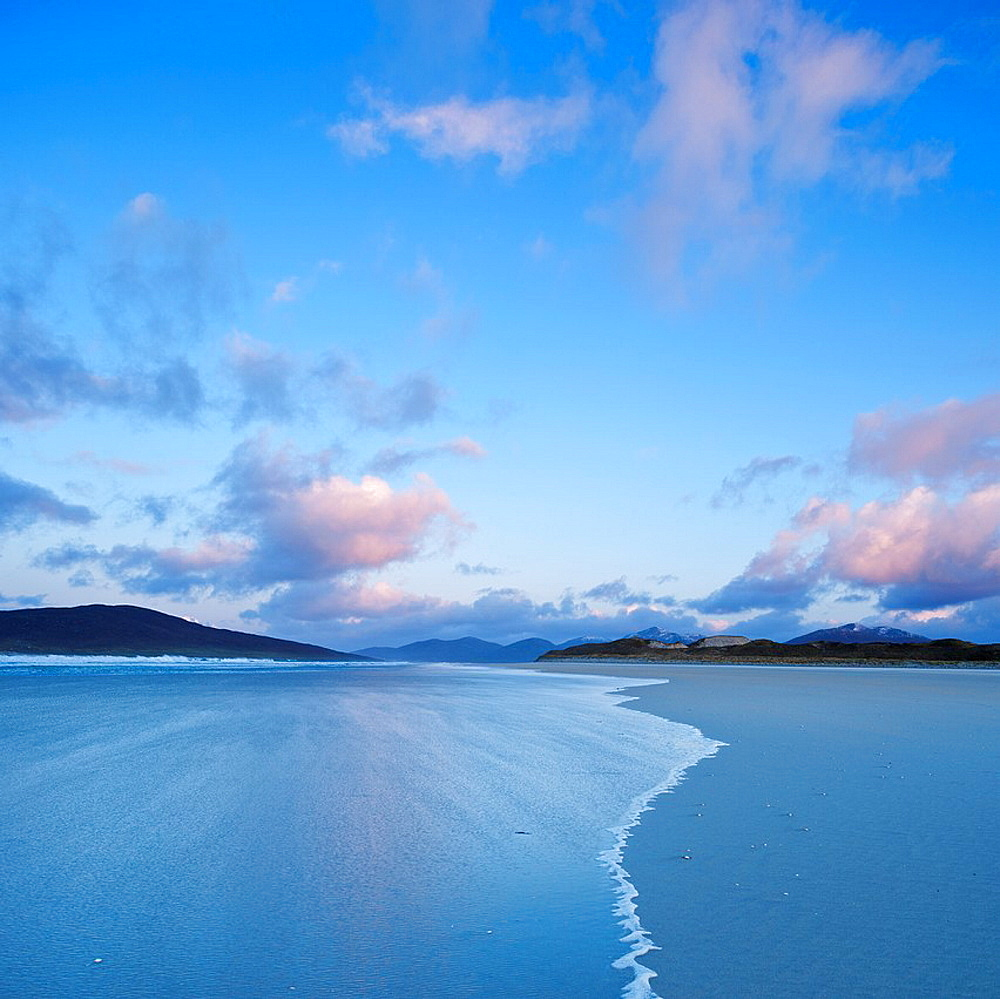 Luskentyre beach at dawn, Isle of Harris, Outer Hebrides, Scotland