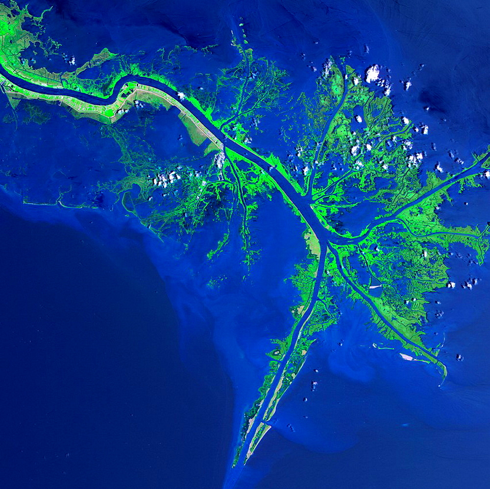 Mississippi River Delta in the Gulf of Mexico