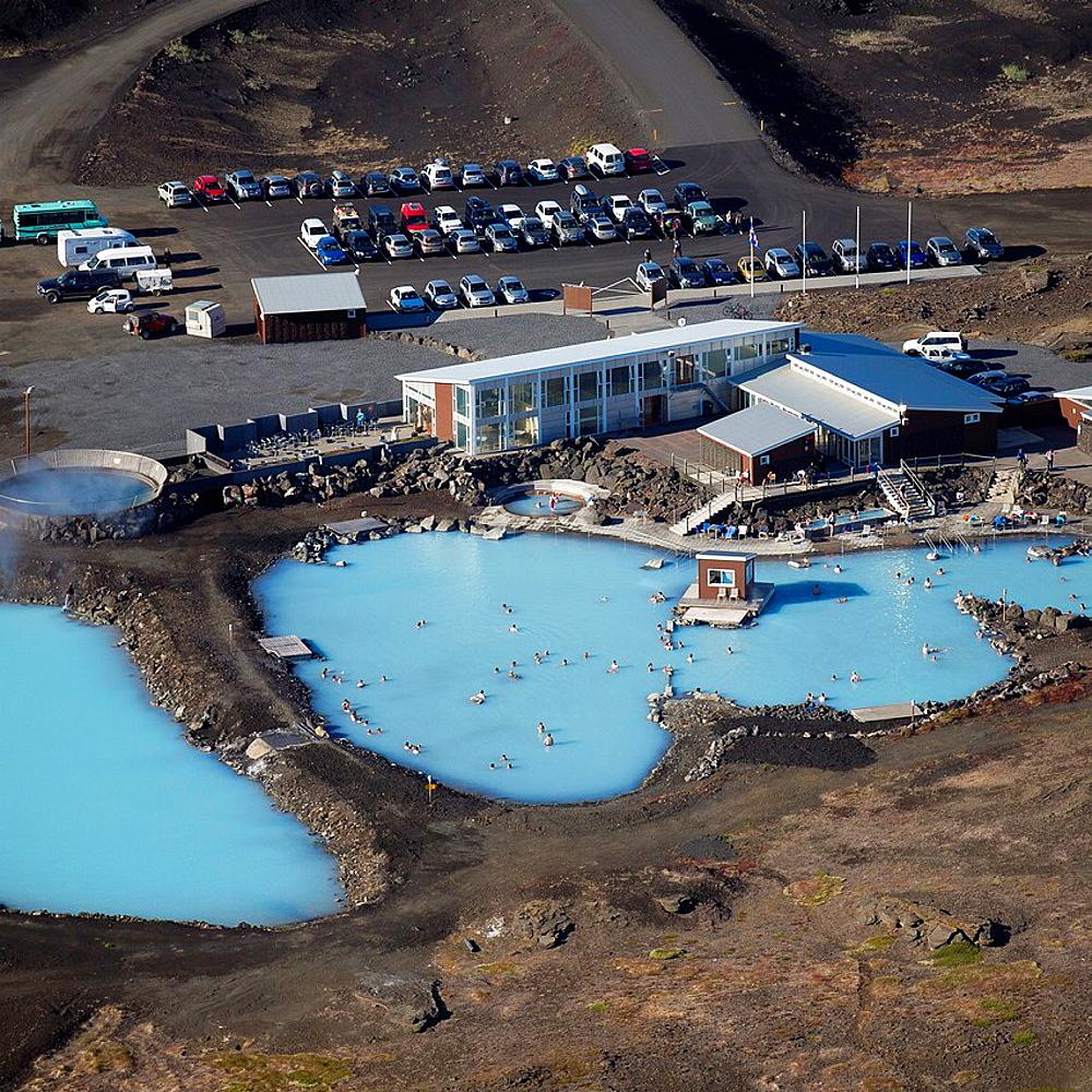 Geothermal hot springs- Myvatn Nature Baths, Northern Iceland.