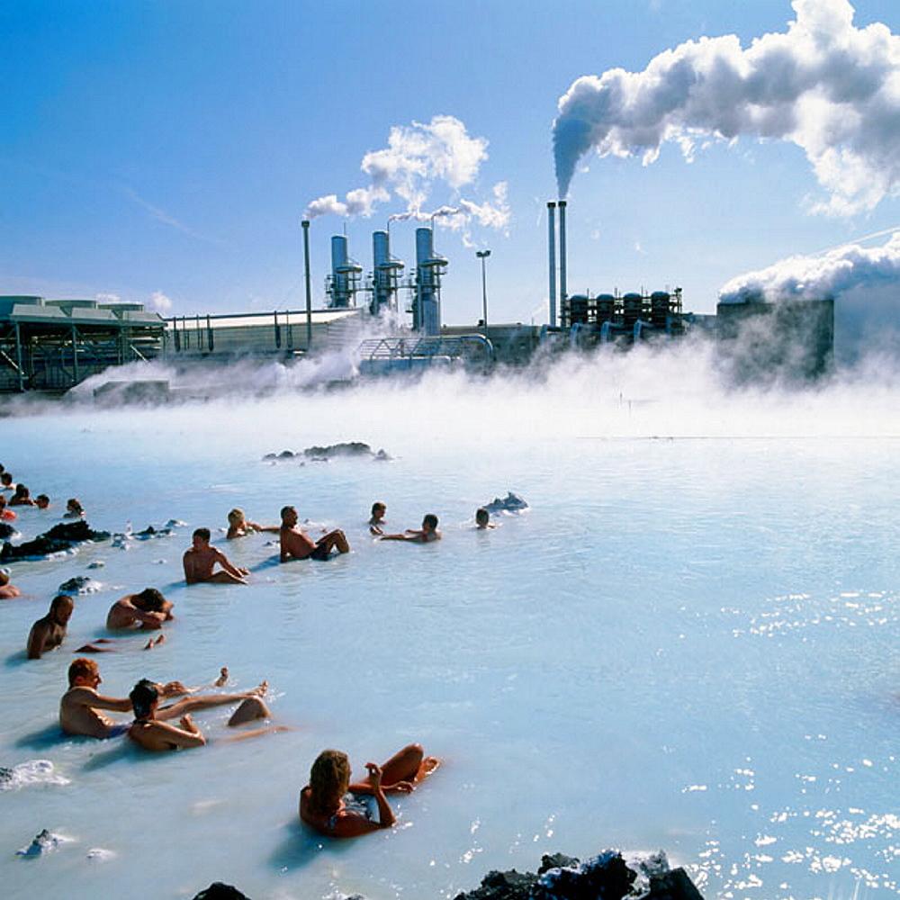 Geothermal power plant, Svartsengi, The Blue Lagoon, Grindavik, Iceland - 817-66405