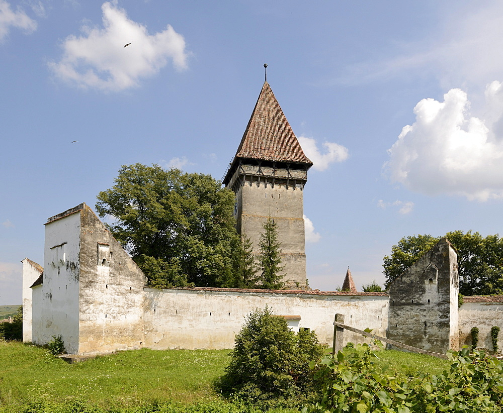 Dealu Frumos fortified church, Schoenberg, Transylvania, Romania, Europe