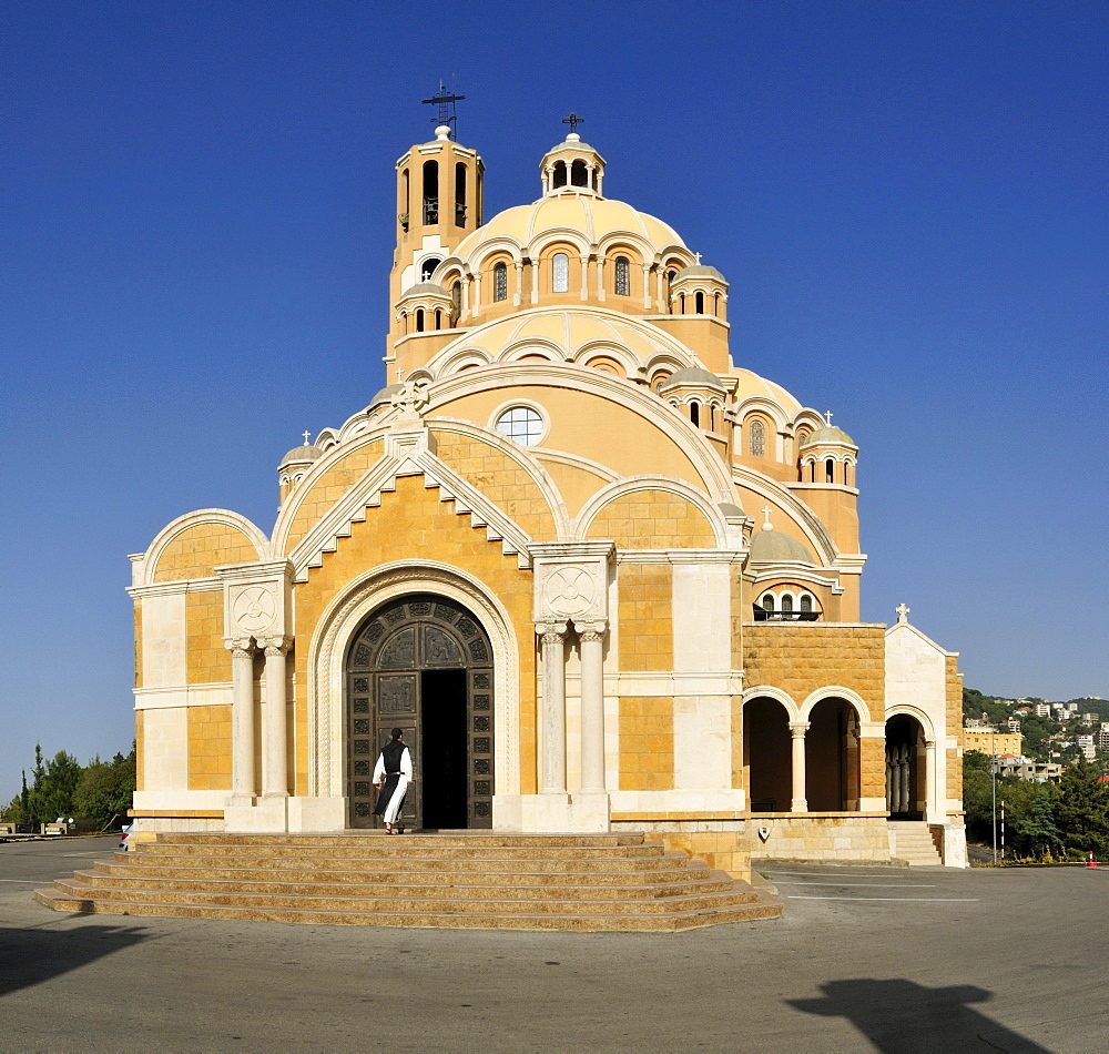 Maronite St. George Cathedral, Harissa, Lebanon, Middle East, West Asia