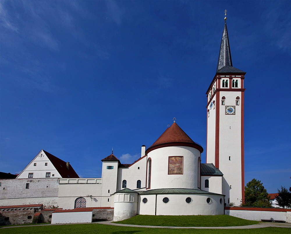 St. Stephen's Church, Mindelheim, Swabia, Unterallgaeu district, Bavaria, Germany, Europe