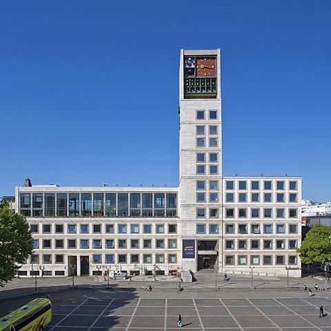 City hall, Marktplatz square, Stuttgart, Baden-Wuerttemberg, Germany, Europe