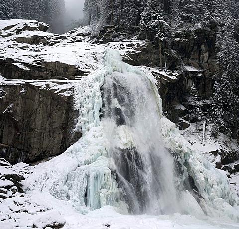 Krimml waterfall, Nationalpark Hohe Tauern national park, Austria, Europe