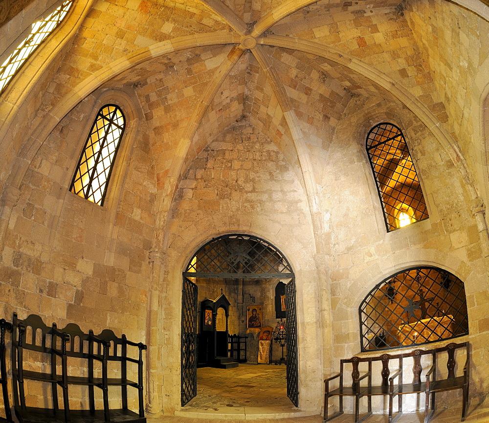 Knight's Church, reconstruction by Italians, Filerimos, Rhodes, Greece, Europe