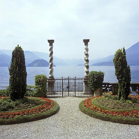 Park Villa Monastero, Varenna on the Lake Como, province of Como, Lombardy, Italy, Europe