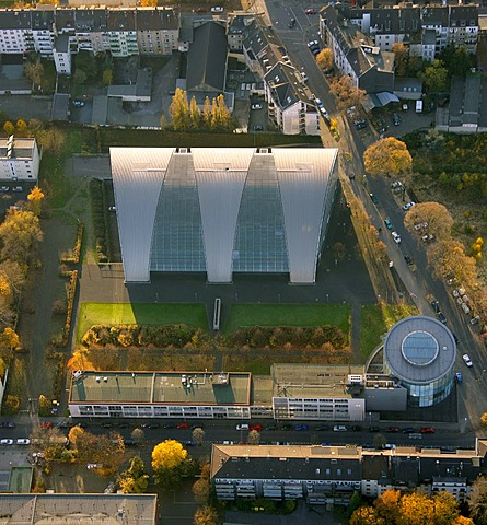 Aerial picture, promotion of economy, Tectrum, technology centre, Duisburg, Neuburg, Ruhr area, North Rhine-Westphalia, Germany, Europe