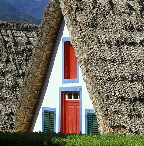 Santana Madeira Portugal thatched farm house