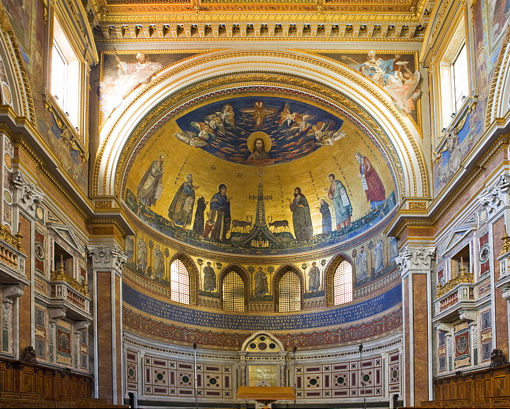 Apse decorated with mosaics, Basilica of St John Lateran, Rome, Italy, Europe