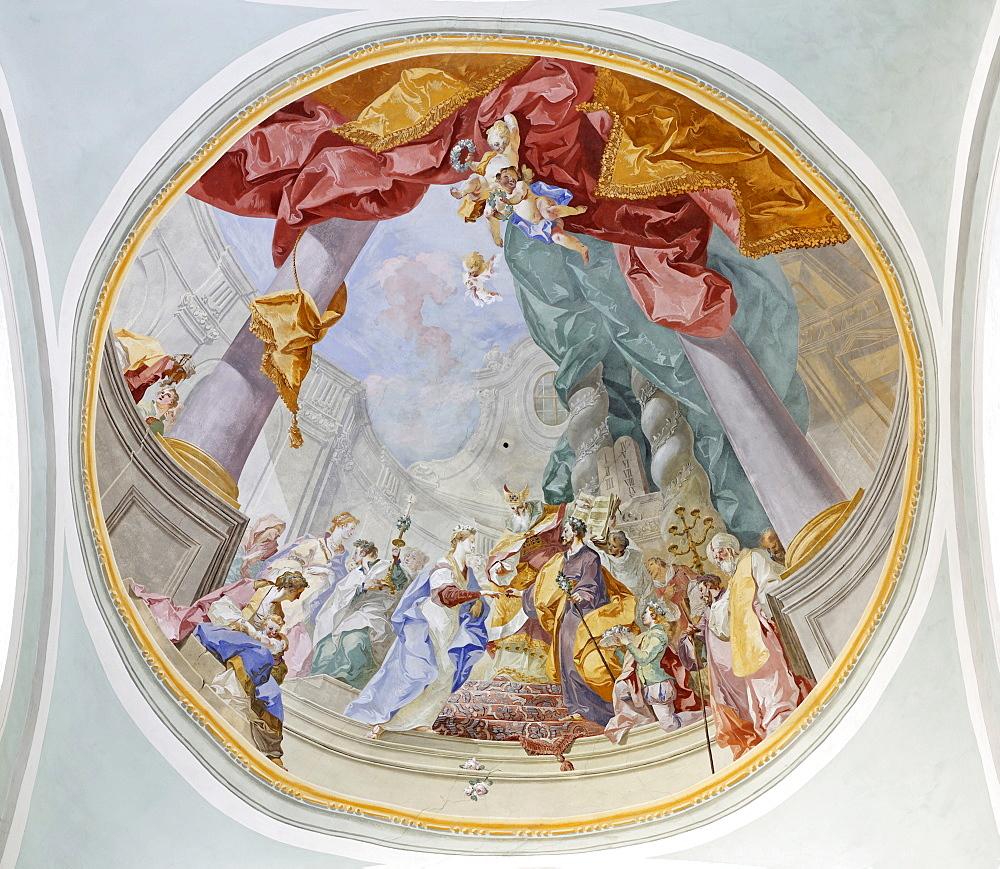 Painting, Mariazell Cloister, Klein-Mariazell, Triestingtal (Triesting Valley), Lower Austria, Austria, Europe
