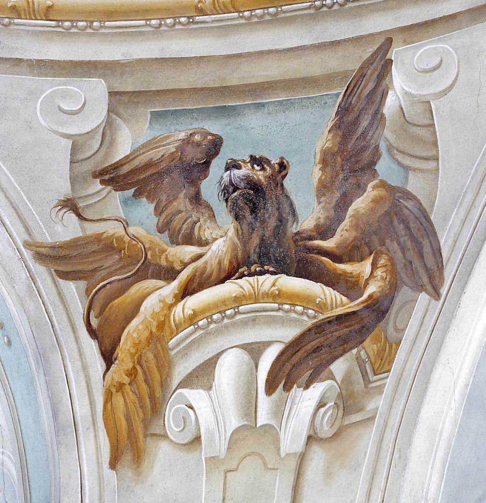 Fresco, Thenneberg Church, Triestingtal, Lower Austria, Austria