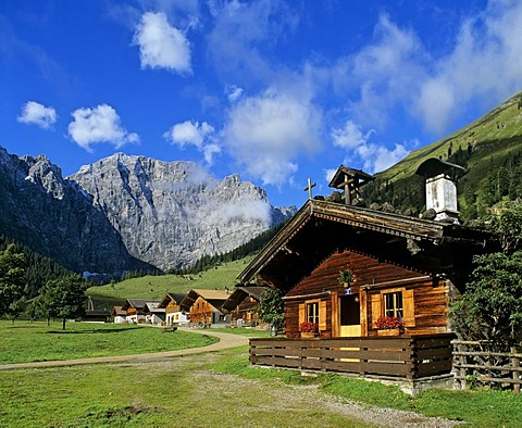 Grosser Ahornboden, Eng, Grubenkarspitze, Karwendel, Tyrol, Austria