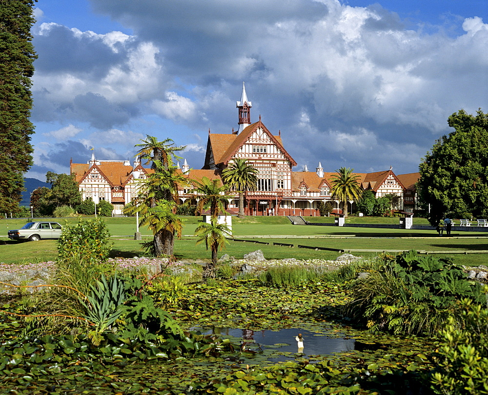 Bath House, Government Gardens, Museum of Art and History, Rotorua, North Island, New Zealand