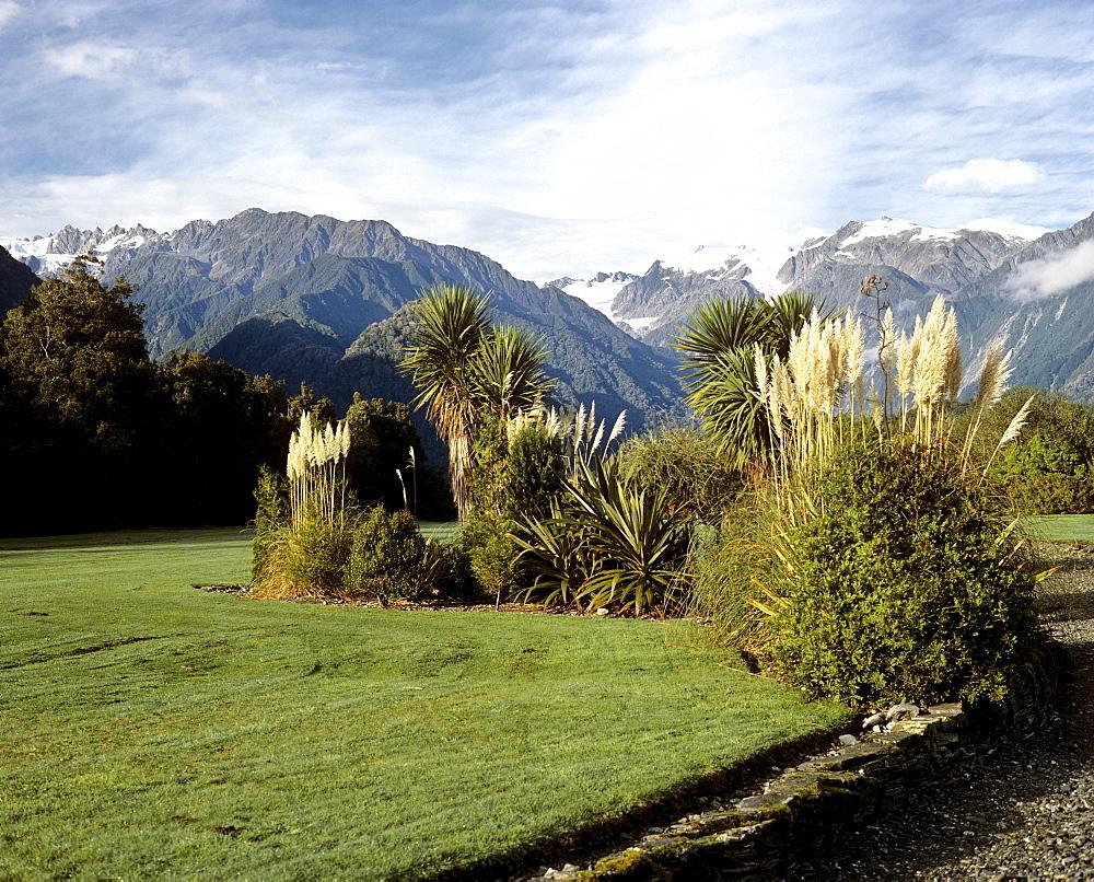 Landscape at the Franz Josef Glacier, South Island, New Zealand