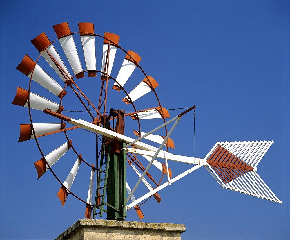 Windmill at Palma de Mallorca Airport, Majorca, Balearic Islands, Spain
