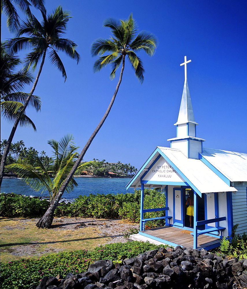 Historic St. Peter's Church in Kahaluu, Hawaii, USA