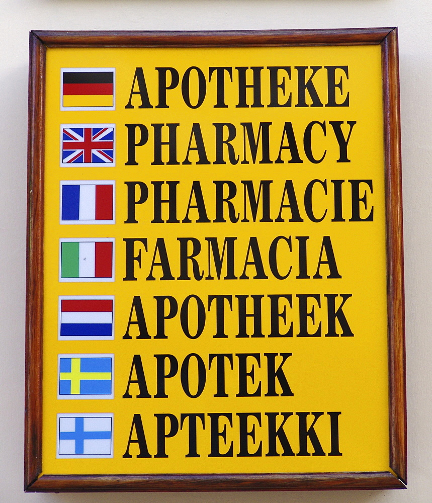 ESP Spain Canary Islands La Palma : Pharmacy-sign in Los Llanos. |
