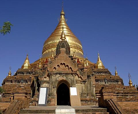 Dhamma-ya-zi-ka pagoda, the archaeological site of Pagan, Bagan, Myanmar, Burma