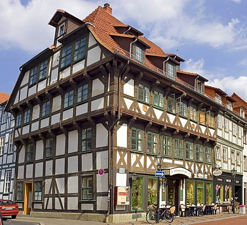A timbered house in the old town of Goettingen, Germany
