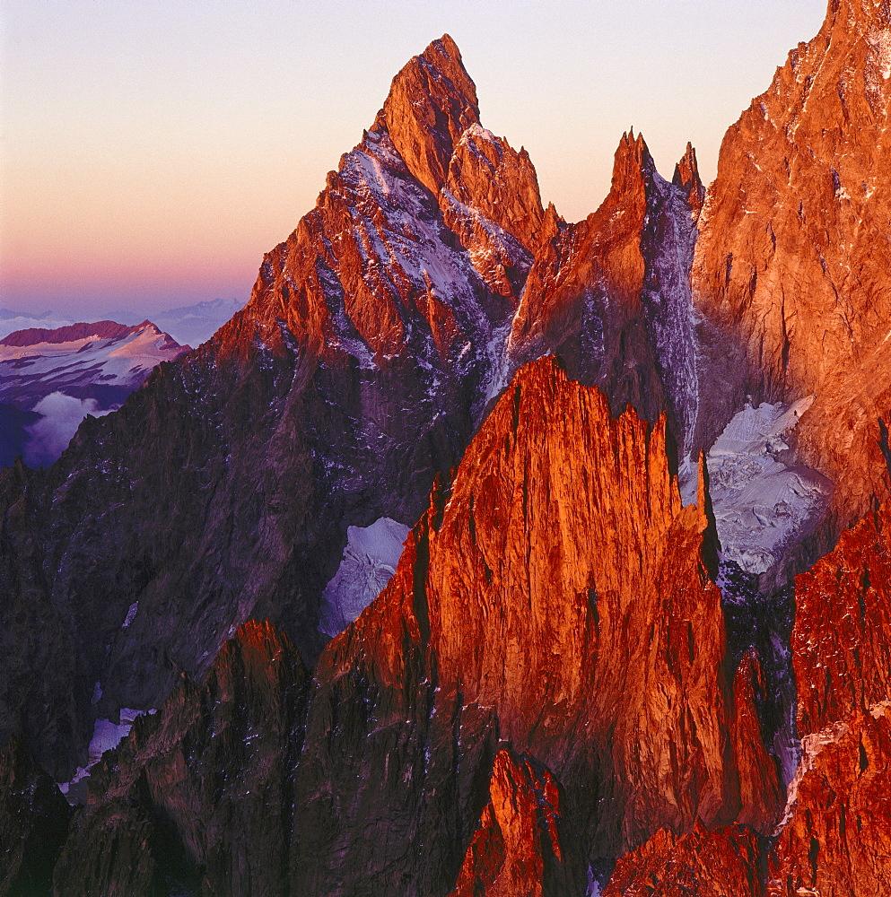Aiguille Noire de Peuterey, Savoyer Alps, Italy