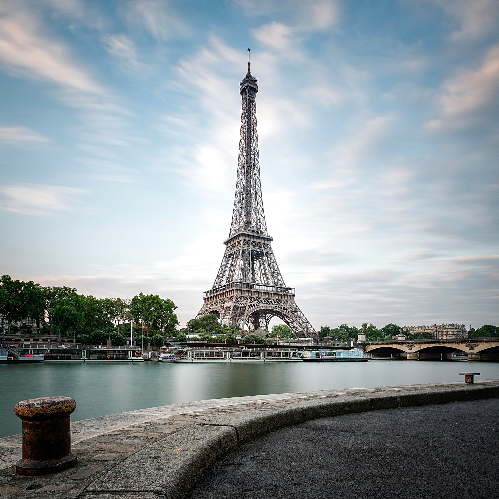 Eiffel Tower at Seine in Paris, France, Europe - 832-383725