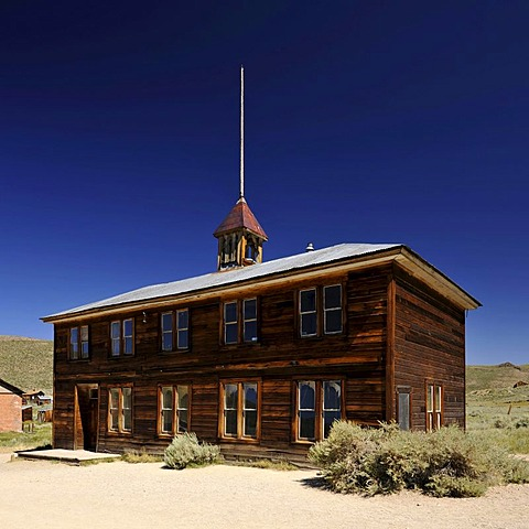 School house, ghost town of Bodie, a former gold mining town, Bodie State Historic Park, California, United States of America, USA