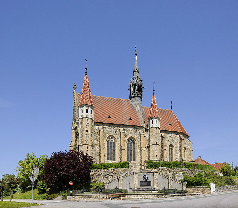 Parish church of the Assumption, Late Gothic style, Mariasdorf, Burgenland, Austria, Europe