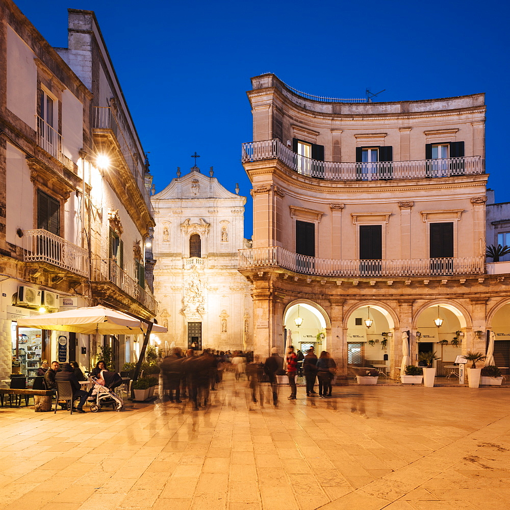 Basilica di San Martino at night, Centro Storico, Martina Franca, Puglia, Italy, Europe