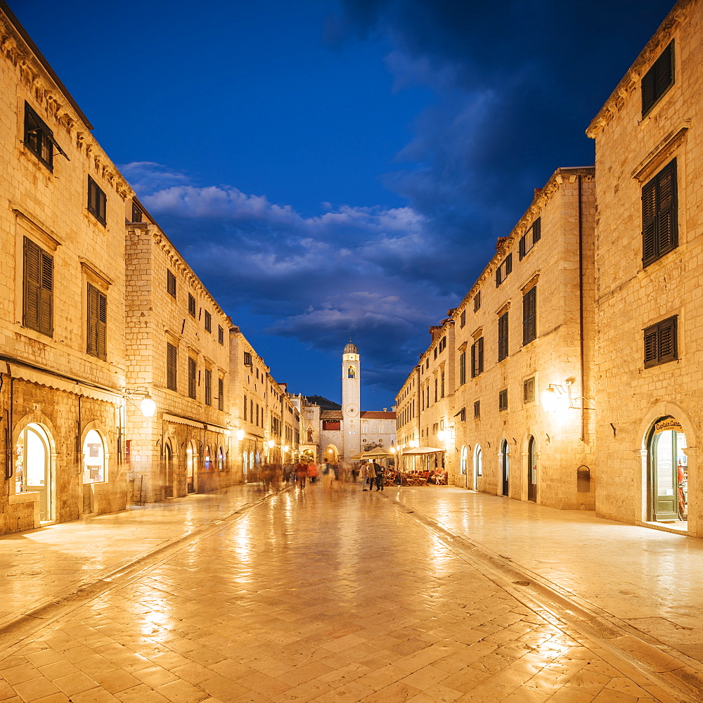 Stradun, Old Town, UNESCO World Heritage Site, Dubrovnik, Croatia, Europe - 848-1390