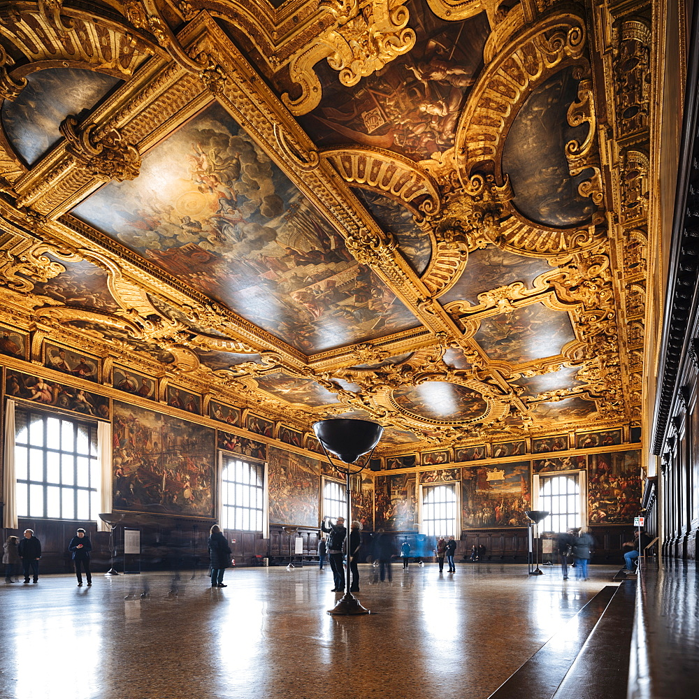 Interior of The Doge's Palace (Palazzo Ducale), Venice, UNESCO World Heritage Site, Veneto Province, Italy, Europe - 848-1463