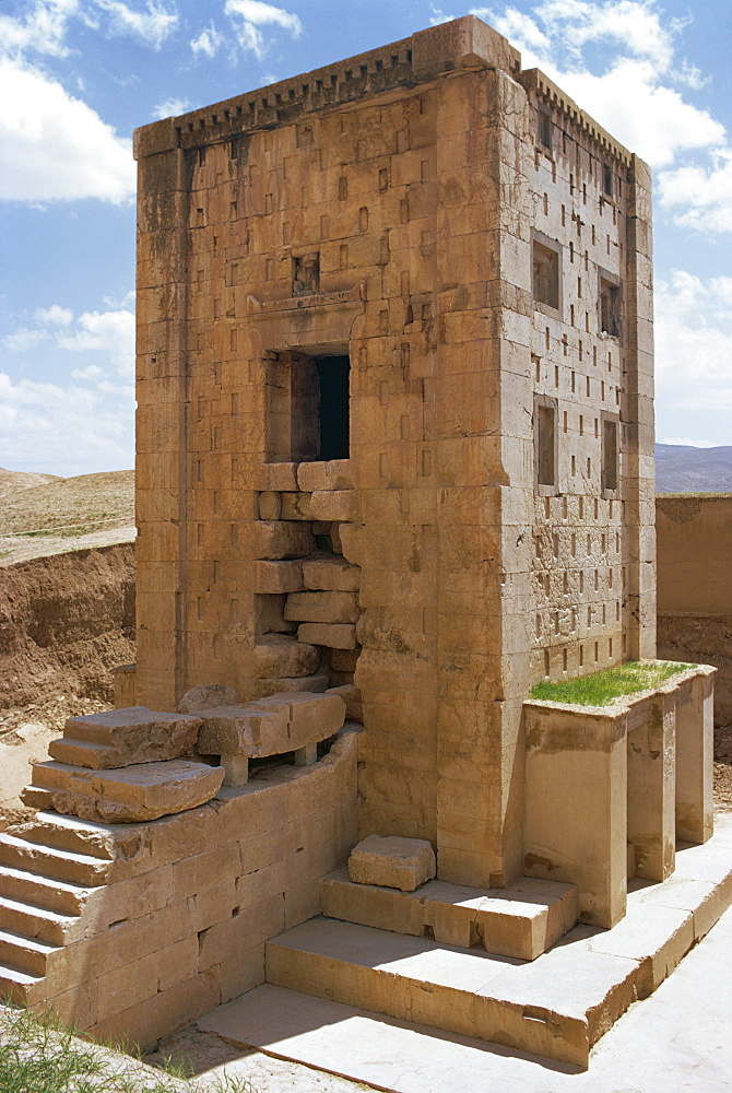 Ka'ba Zardusht (Cube of Zoroaster), Naqsh-e-Rustam, Iran, Middle East