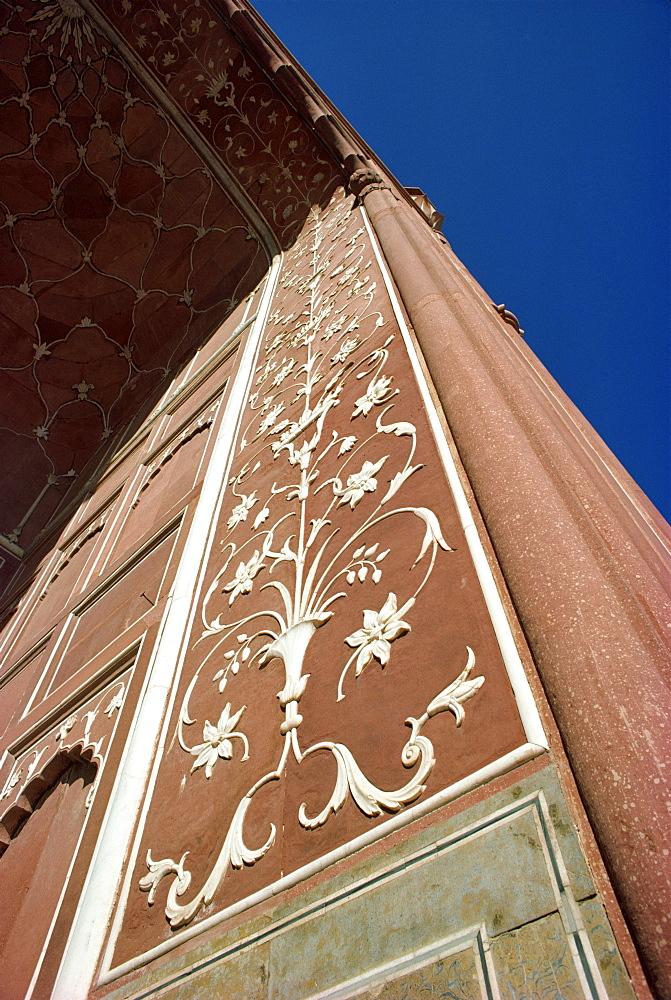 Detail, Badshahi Mosque, Lahore, Pakistan, Asia