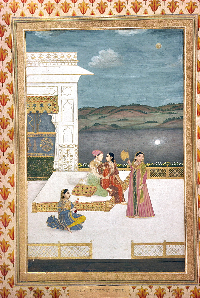 Mughal miniature, Lahore Museum, Pakistan, Asia