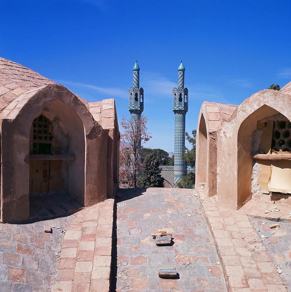 Minarets of the Dervish School, Mahan, Iran, Middle East
