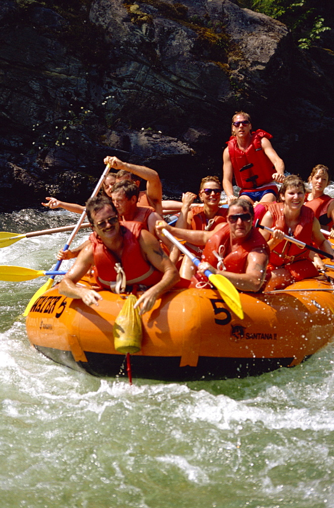 White water rafting, Adams River, British Columbia, Canada, North America