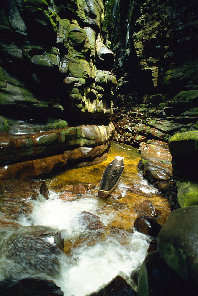 Canyon near Kavak, an Indian village near the Angel Falls, Venezuela, South America