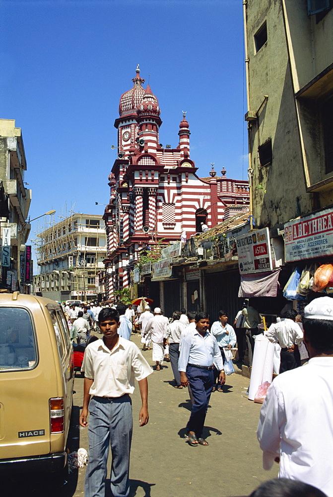 Mosque in Main Street area, Colombo, Sri Lanka, Asia