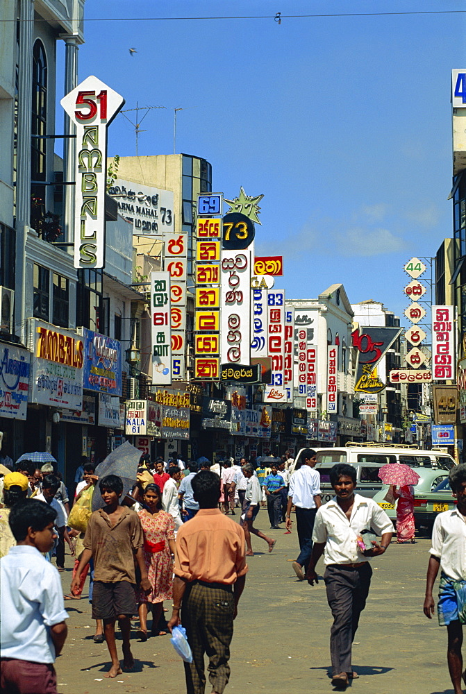 Main Street area, Colombo, Sri Lanka, Asia