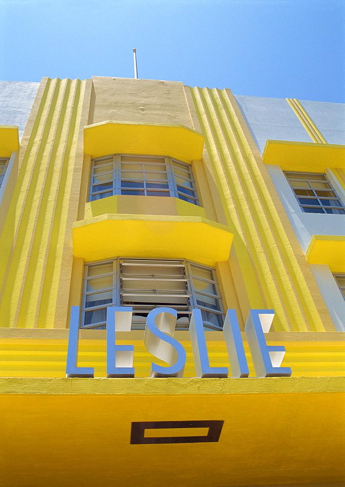 Art deco area, Miami Beach, Miami, Florida, United States of America, North America - 1-37266
