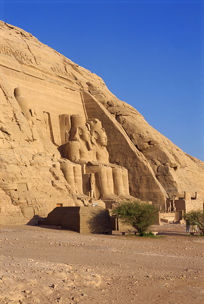 Temple of Re-Herakhte for the pharaoh Ramses II (The Great), moved when Aswan High Dam built, UNESCO World Heritage Site, Abu Simbel, Egypt, North Africa, Africa