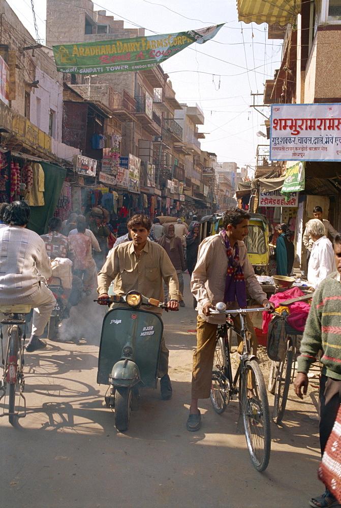 Street scene, Jodhpur, Rajasthan state, India, Asia