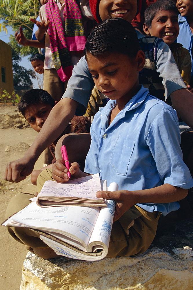 Village school, Deogarh, Rajasthan state, India, Asia