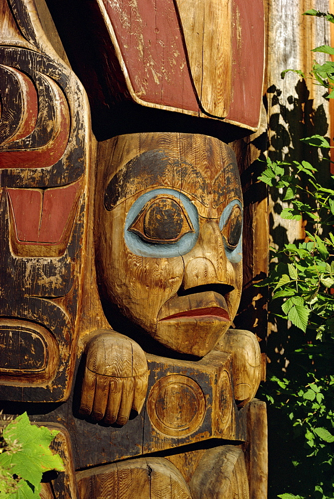 Totem Pole Park, Haida Village, Vancouver, British Columbia, Canada, North America