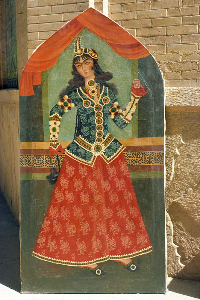 Qajar painting, Shiraz Museum, Shiraz, Iran, Middle East - 1-8568