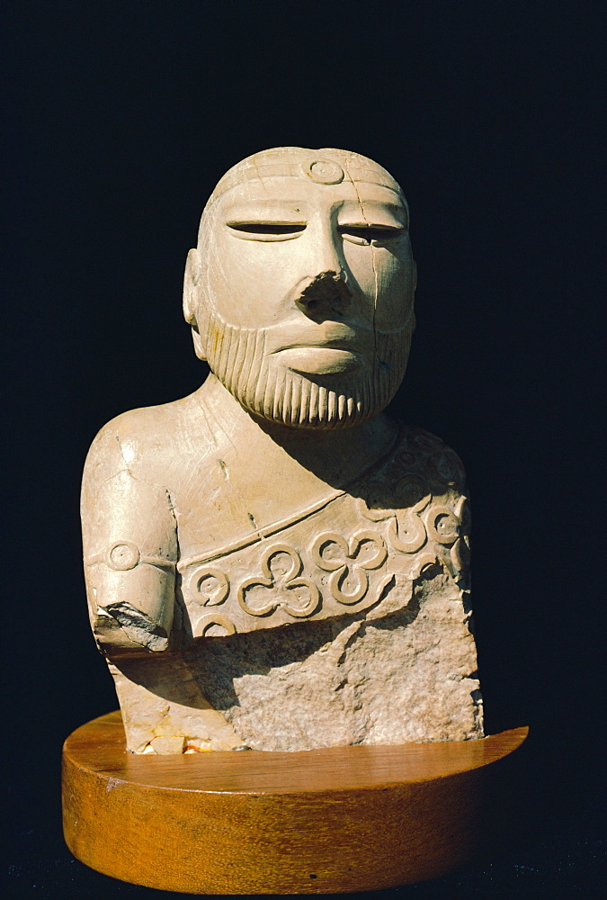 King Priest figure from Mohenjodaro (Indus Civilization), Karachi Museum, Pakistan